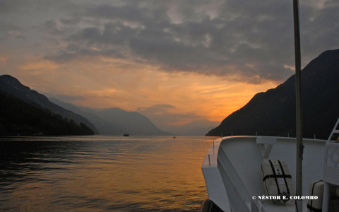 Sunset on Lake Lucerne