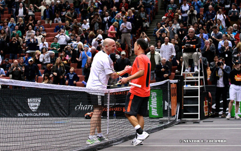 Acura Champions Cup - Agassi def Chang