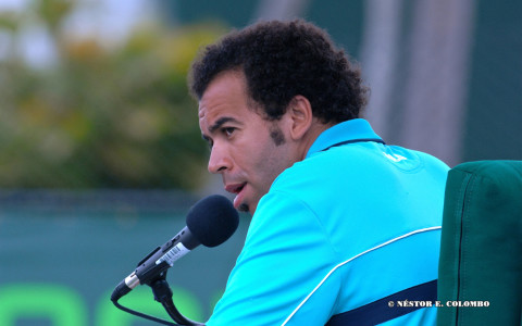 Chair Umpire at the Sony Ericsson Open